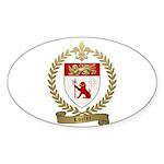 LOZIER Family Crest Sticker (Oval 10 pk)