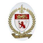 LOZIER Family Crest Ornament (Oval)