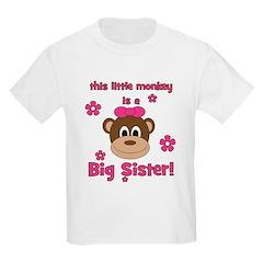 Little Monkey Is Big Sister! T-Shirt