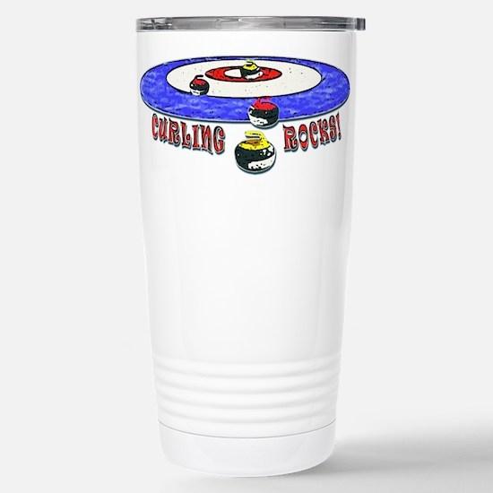 Curling Rocks Mag Stainless Steel Travel Mug