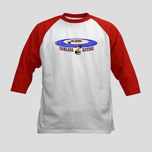 Curling Rocks Mag Kids Baseball Jersey