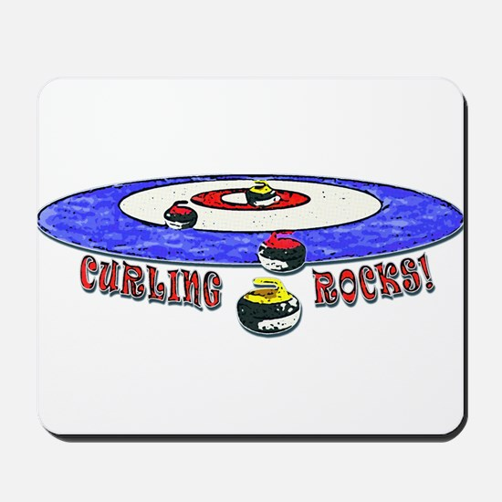Curling Rocks Mag Mousepad
