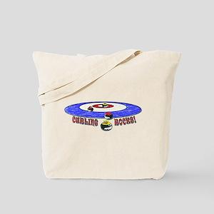 Curling Rocks Mag Tote Bag