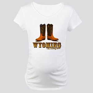 Wyoming: The Cowboy State Maternity T-Shirt