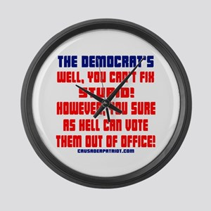 VOTE THEM OUT OF OFFICE! Large Wall Clock