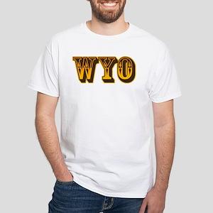Just Wyo White T-Shirt
