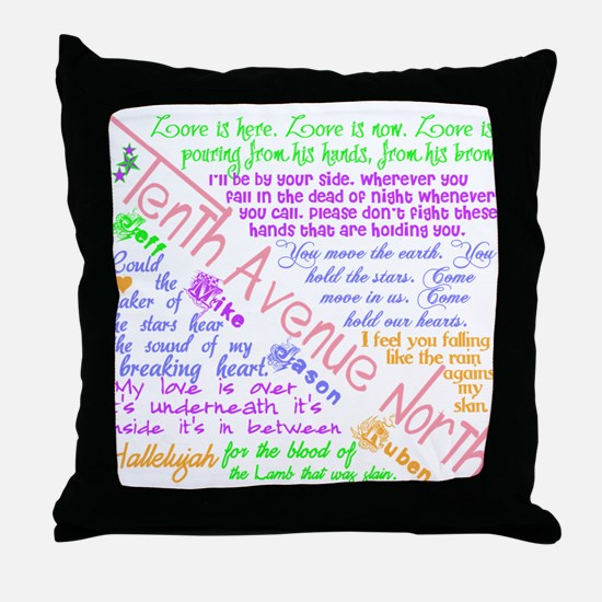 Tenth Avenue North Bright Throw Pillow