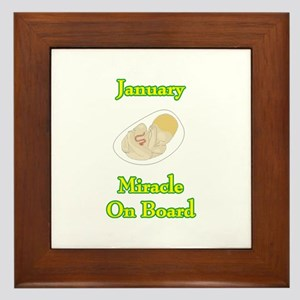January Miracle Onboard Framed Tile