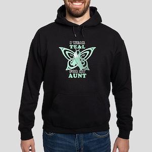 I Wear Teal for my Aunt Hoodie (dark)