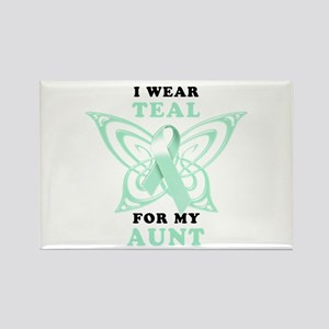 I Wear Teal for my Aunt Rectangle Magnet