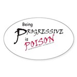Progressive Poison Sticker (Oval 10 pk)