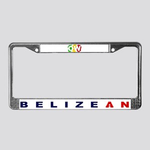 Orange Walk Ras/Belizean License Plate Frame