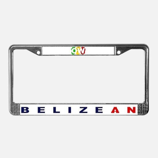 Orange Walk Ras/Belizean License Plate Frame
