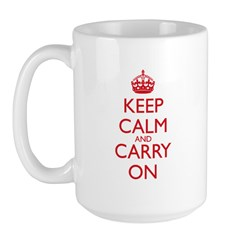 Keep Calm and Carry On Red Mug Front+Back