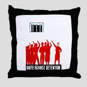 Unite Against Detention  Throw Pillow