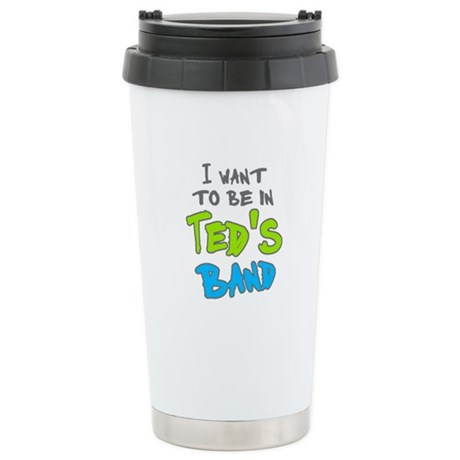 'Ted's Band' Stainless Steel Travel Mug