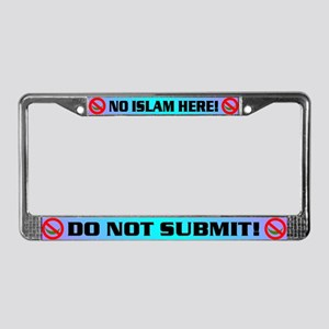 NO ISLAM! License Plate Frame