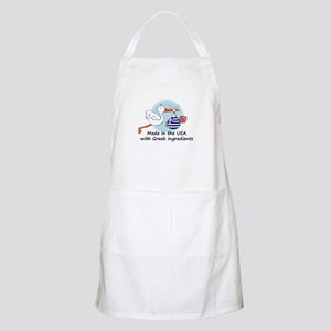 Stork Baby Greece USA Apron