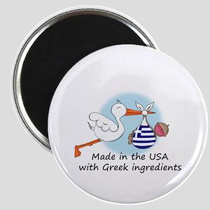 Stork Baby Greece USA Magnet