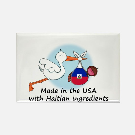 Stork Baby Haiti USA Rectangle Magnet