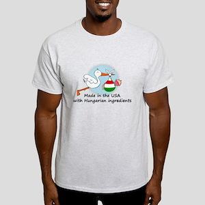 Stork Baby Hungary USA Light T-Shirt