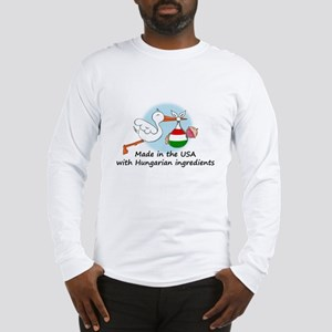 Stork Baby Hungary USA Long Sleeve T-Shirt