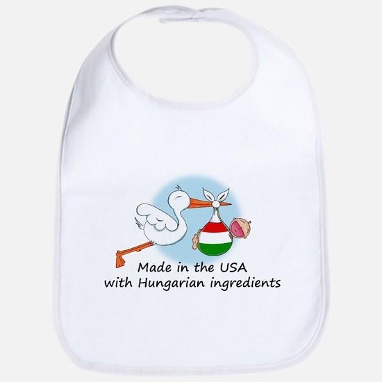 Stork Baby Hungary USA Bib