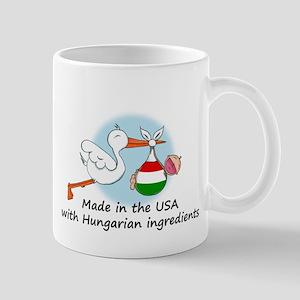 Stork Baby Hungary USA Mug