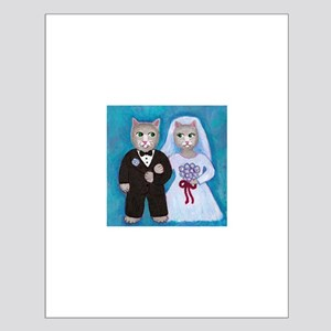 Wedding Cats Small Poster
