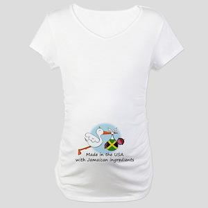 Stork Baby Jamaica USA Maternity T-Shirt