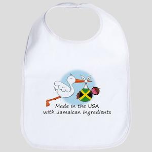 Stork Baby Jamaica USA Bib