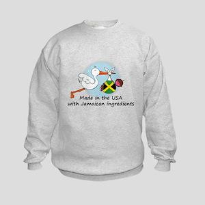 Stork Baby Jamaica USA Kids Sweatshirt