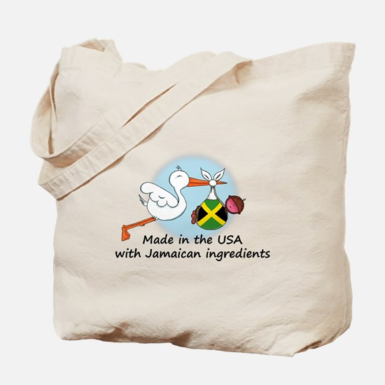 Stork Baby Jamaica USA Tote Bag