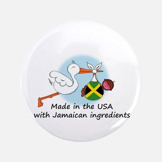 "Stork Baby Jamaica USA 3.5"" Button"