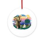 St Francis #2 / Havanese (w) Ornament (Round)