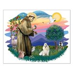 St Francis #2 / Havanese (w) Small Poster