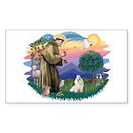 St Francis #2 / Havanese (w) Sticker (Rectangle 10