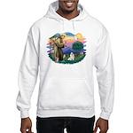 St Francis #2 / Havanese (w) Hooded Sweatshirt