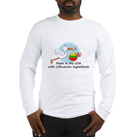 Stork Baby Lithuania USA Long Sleeve T-Shirt