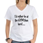 Id rather be... Women's V-Neck T-Shirt