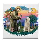 St. Fran #2/ Great Pyrenees #1 Tile Coaster