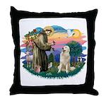 St. Fran #2/ Great Pyrenees #1 Throw Pillow