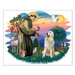 St. Fran #2/ Great Pyrenees #1 Small Poster