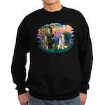 St. Fran #2/ Great Pyrenees #1 Sweatshirt (dark)