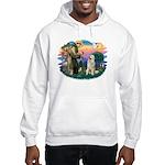 St. Fran #2/ Great Pyrenees #1 Hooded Sweatshirt