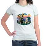 St. Fran #2/ Great Pyrenees #1 Jr. Ringer T-Shirt