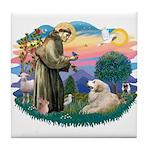 St. Fran #2/ Great Pyrenees (#2) Tile Coaster