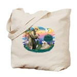 St. Fran #2/ Great Pyrenees (#2) Tote Bag