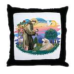 St. Fran #2/ Great Pyrenees (#2) Throw Pillow