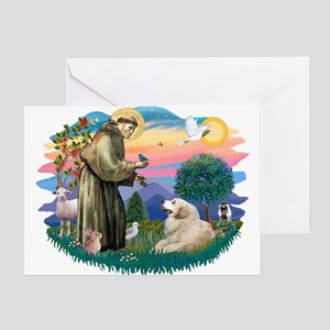 St. Fran #2/ Great Pyrenees (#2) Greeting Card